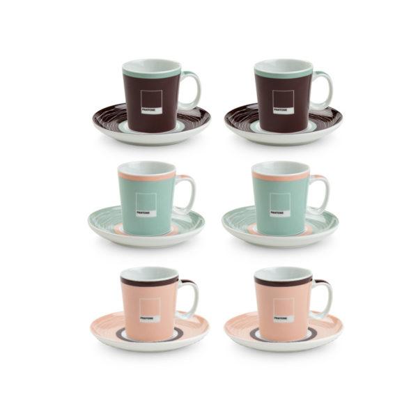 SET 6 TAZZE' CAFFE' PANTONE