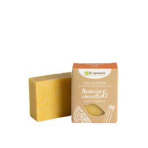 Sapone all'Olio Extravergine d'Oliva Arancia e Cannella 100 gr (Ricco di vitamina E)