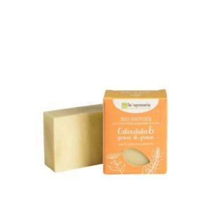 Sapone all'Olio Extravergine d'Oliva Calendula e Germe di Grano 100 gr (Emoliente e lenitivo)