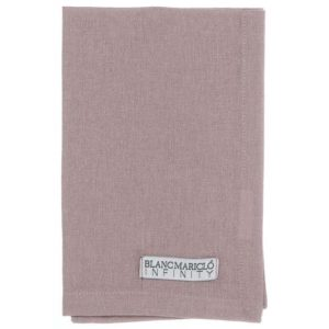 SET/6 TOVAGLIOLI 40x40 CM ROSE POWDER 100% COTONE