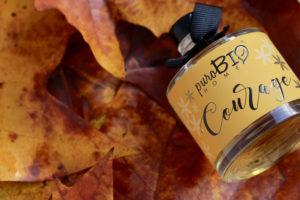 Diffusore di fragranza Biologico COURAGE ylang ylang, vetiver, ambra, cocco e vaniglia  linea rilassante 100 ml
