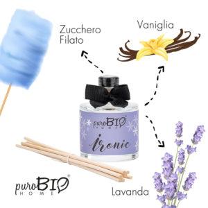 Diffusore di fragranza Biologico IRONIC Lavanda  linea rilassante 100 ml