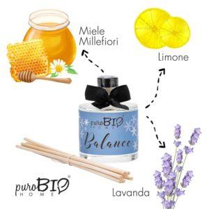 Diffusore di fragranza Biologico BALANCE  bergamotto e lime linea rilassante 100 ml
