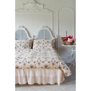 "COMPLETO LETTO 2 PIAZZE 245X290 180X200+30 +50X80  BLANC MARICLO'  ""ANTIQUE ROSE""  COTONE"